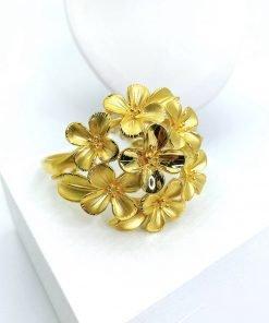 Lắc tay vàng nữ trăm hoa đua nở